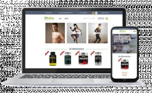 Smarter Online-Shop mit Magazin zur Nahrungsergänzung