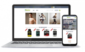 Smart online shop with magazine on nutritional supplements